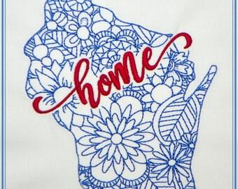 Wisconsin Machine Embroidery Design