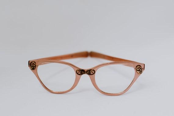 Vintage 50's & 60's Tura Aluminum  Cateye Eyeglass
