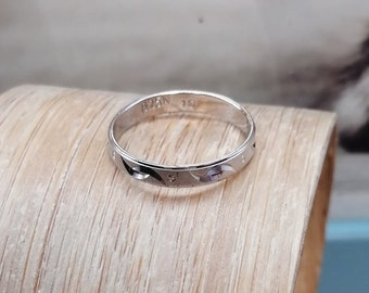 Continuum 925 Stamped Sterling Silver 3mm Half Round Wedding Ring Band