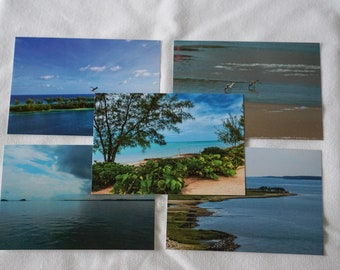 Beach Postcards Set of 10 Variety Pack | Snail mail | Pen pals | Stationery
