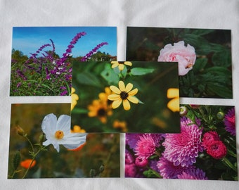 Flower Postcards Set of 10 Variety Pack Series 2 | Snail mail | Pen pals | Stationery