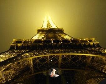 Golden Eiffel Tower Print |  Golden Eiffel Tower Photo | Eiffel Tower Wall Art | Eiffel Tower Wall Decor | France Print | France Photo