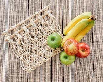 Macrame fruit hammock - Hanging fruit basket - Fruit storage - Kitchen storage - Fruit hanger