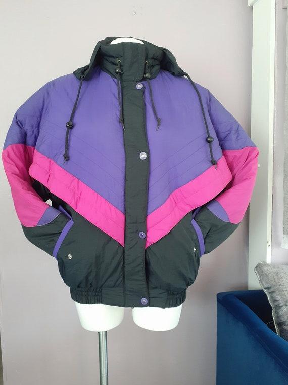 Vintage 1990s Colorblock Ski Jacket Size Small