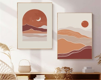 Moon Mountain Paint By Number Kit,Abstract Paint By Number Kit,Without Frame,DIY Painting On Canvas,Adult Painting On Canvas Art,DIYPainting