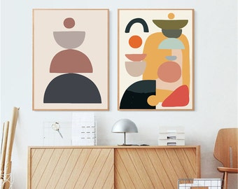 Geometric Paint By Number Kit,Abstract By Number Kit,Without Frame,DIY Painting On Canvas,Adult Painting On Canvas Art,DIY Painting