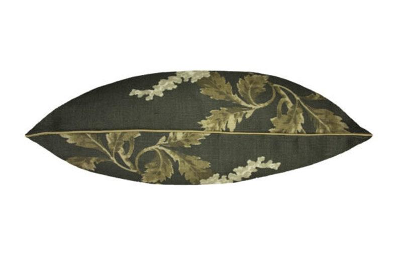 Linen 18x18 Nina Campbell Lomasi Black Cushion Cover Handmade Designer Pillow CaseAccent Decorative Throw Pillow Case