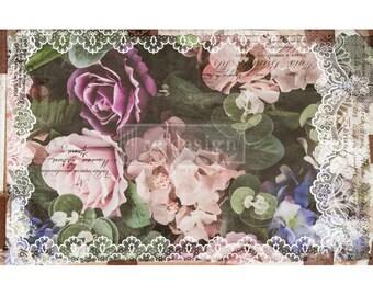 "6  sheets Decoupatch floral acid free tissue paper Thin 20/""x30/"""