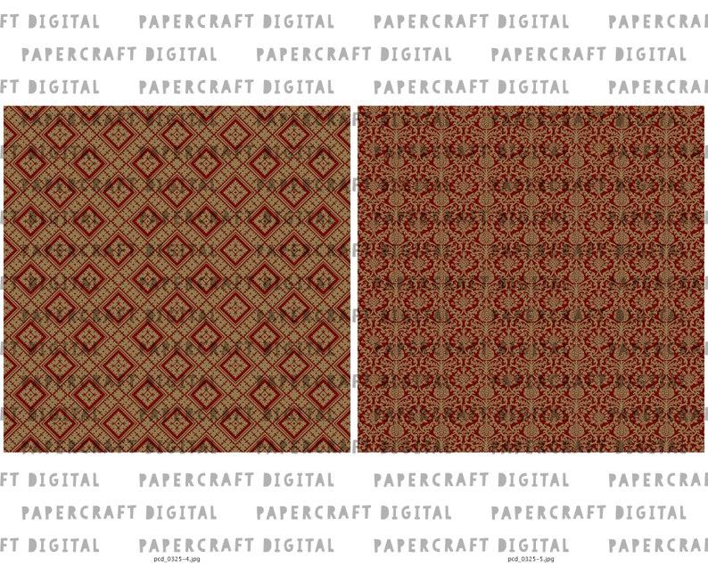 Vintage Scrapbook Printable Paper Digital Paper Pack Seamless Decorative Endpaper Design Old Ornamental Pattern