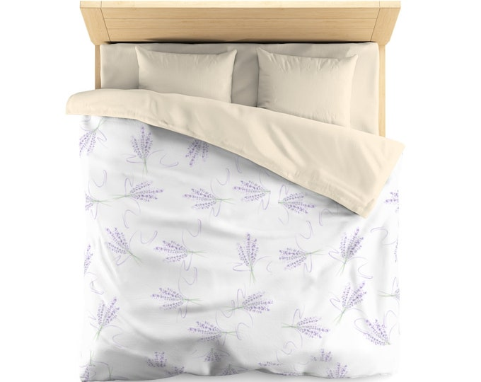 Microfiber Duvet Cover Lavender Lilac Dreams