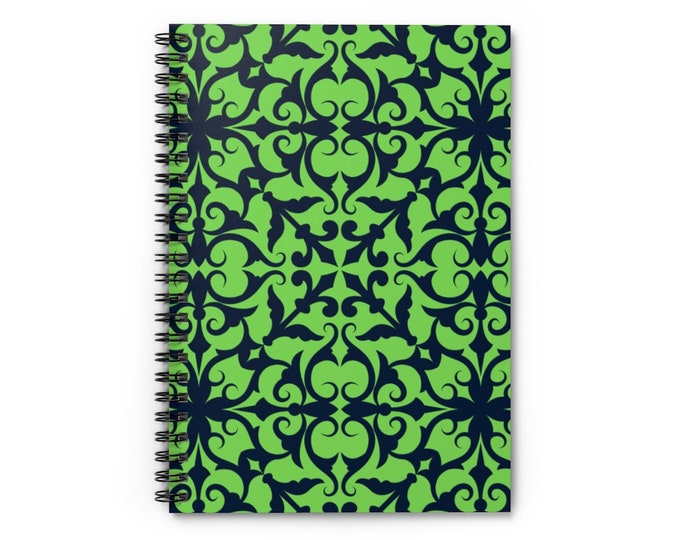 Spiral Notebook - Ruled Line Lime and Blue