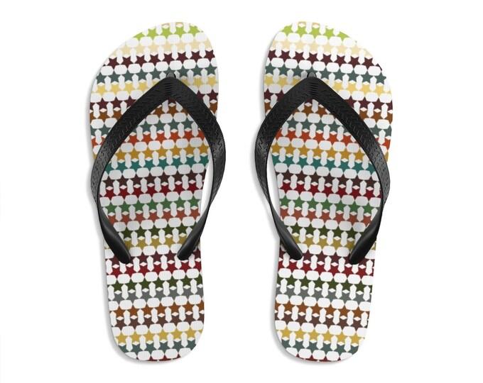 Unisex Flip-Flops Warm Stars