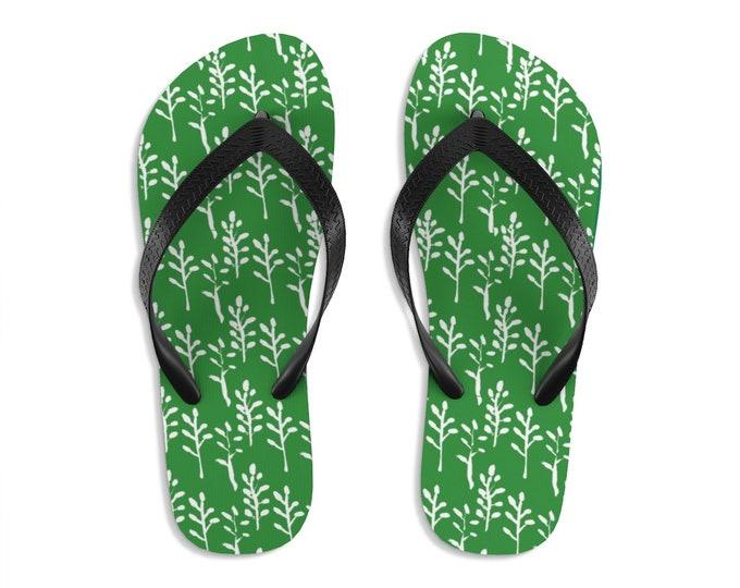 Unisex Flip-Flops Green For Life