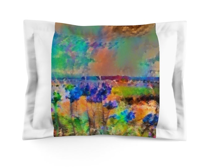 Microfiber Pillow Sham Agapanthus Delight