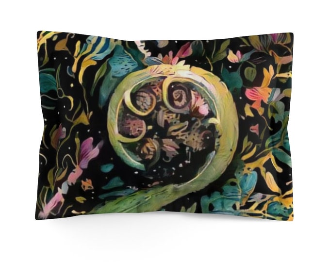 Microfiber Pillow Sham The Most Beautiful Koru Fern