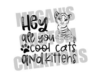 Kittens Svg Etsy
