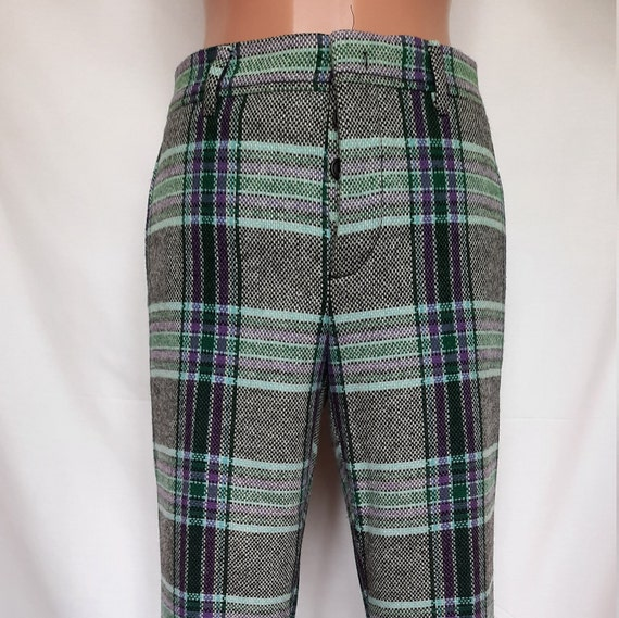 Miu Miu pants, checkered pants, wool  pants