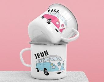Camper Van Couples Mug, His And Hers, Camper Van Gift, Personalised Mug, Personalised Gift