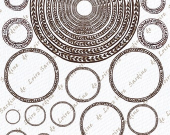 Round borders and labels