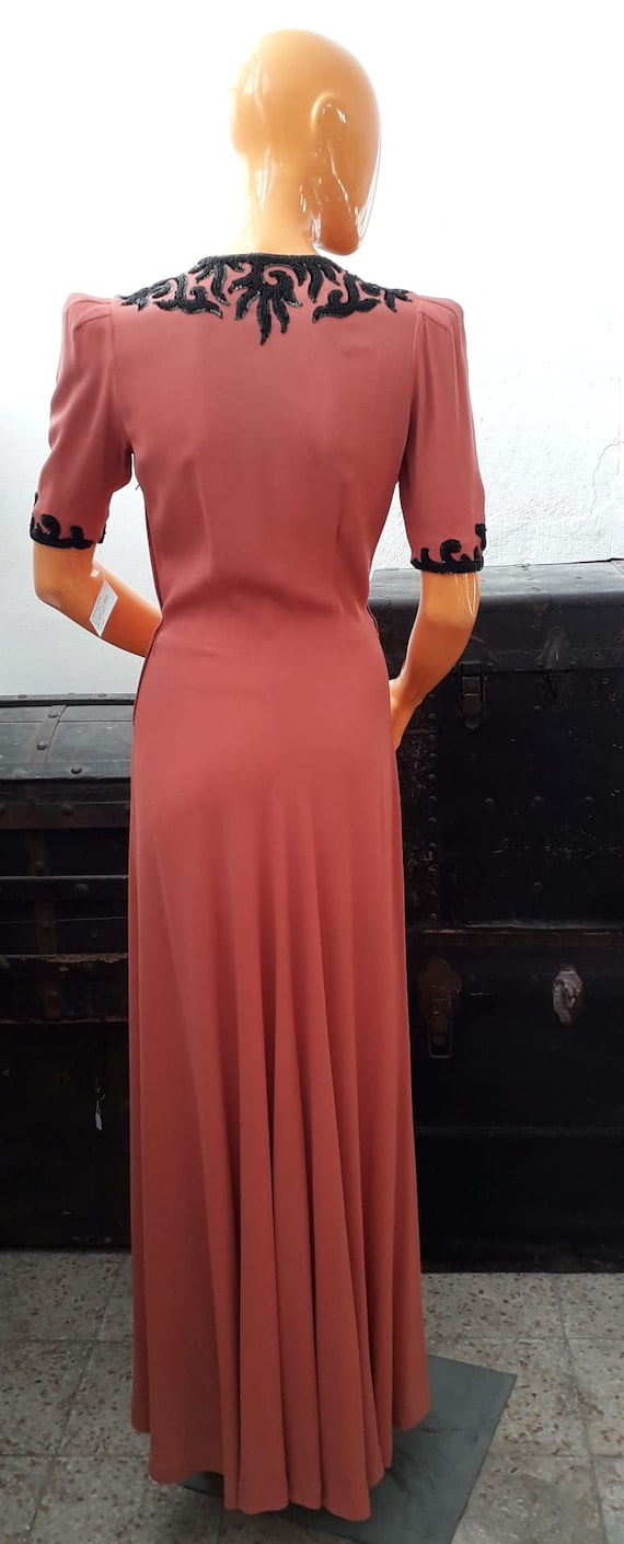 30s silk dress - image 2