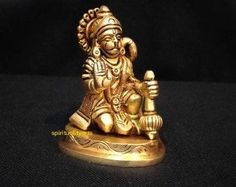 26 CM Hand Painted Cultured Marble Standing Lord Hanuman Idol Hindu Monkey god of Devotion,Strength,Celibacy /& Bhakti. Hanuman Statue