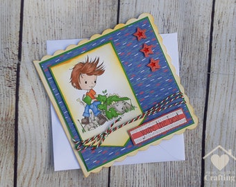 Dino Mite Little Dude Card for Boys