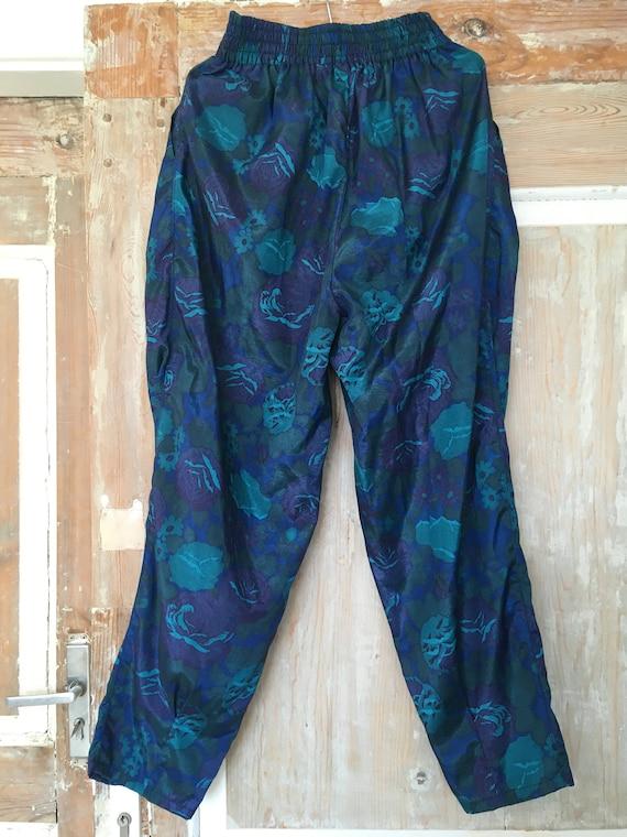 VINTAGE SILK TROUSERS (vintage 80s thai silk flora