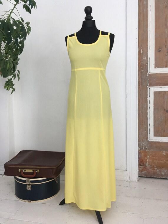 Long yellow lemon dress