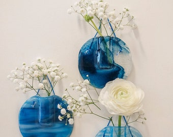 Trio de Bleus wall vases