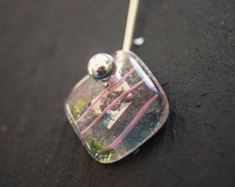 Glass and ball pendant