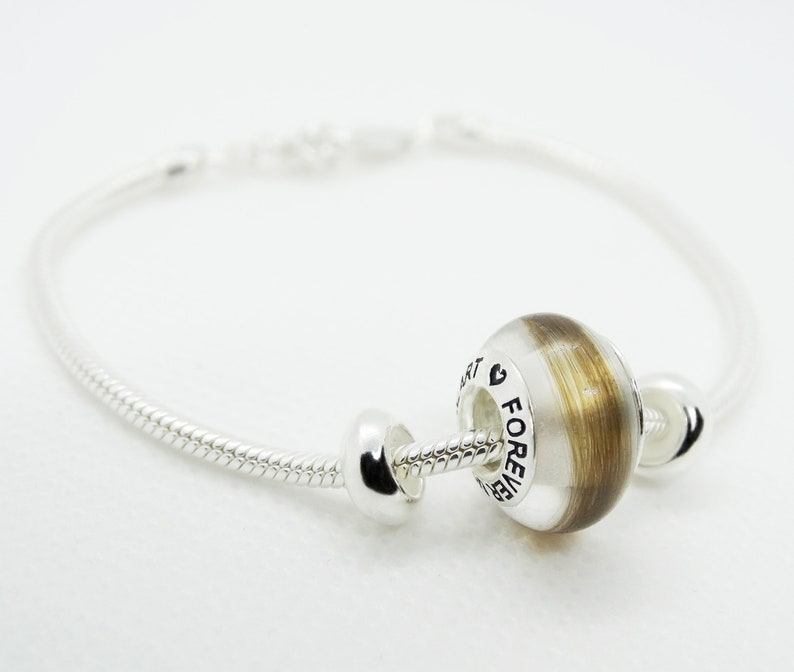 9251000th silver bracelet with hair strands by Bijoudetoi