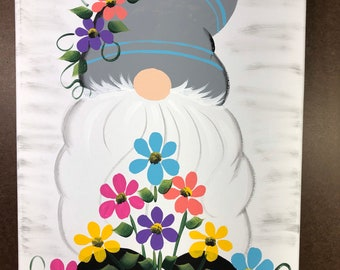 Gnome painted on canvas.