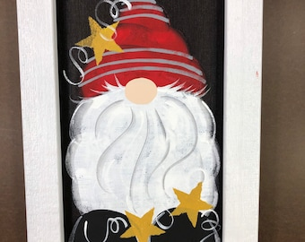 Gnome painted on screen.