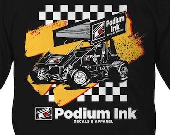 Retro Podium Ink Sprint Car Shirt