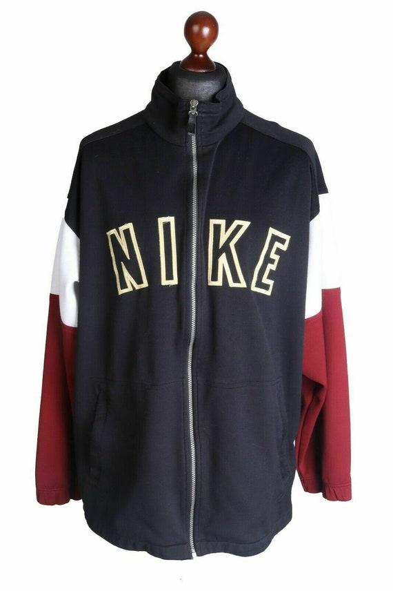 Men's NIKE Vintage Black Track Top Jacket Size XL