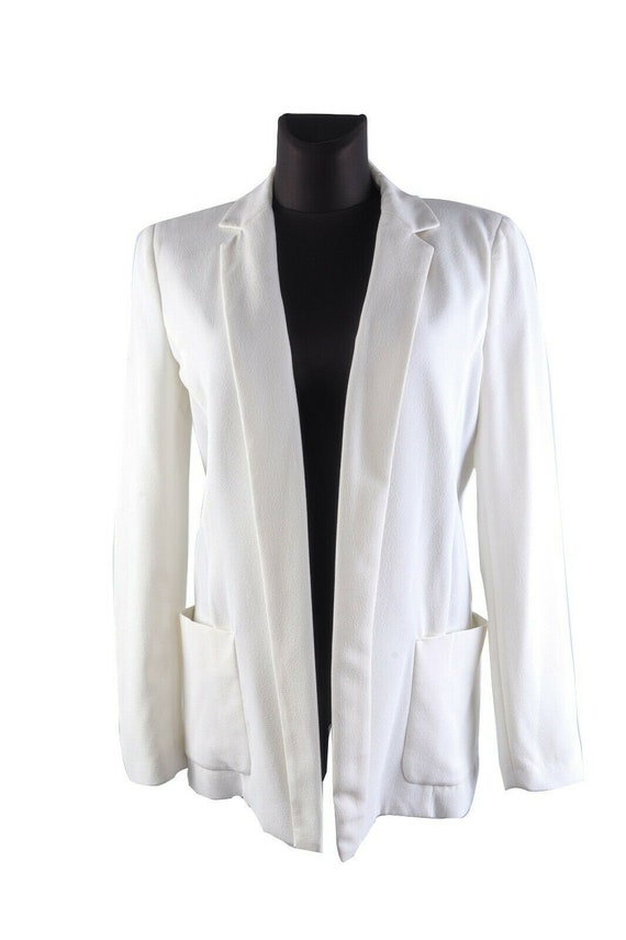 Women's ARMANI JEANS White Loose Jacket No Closure