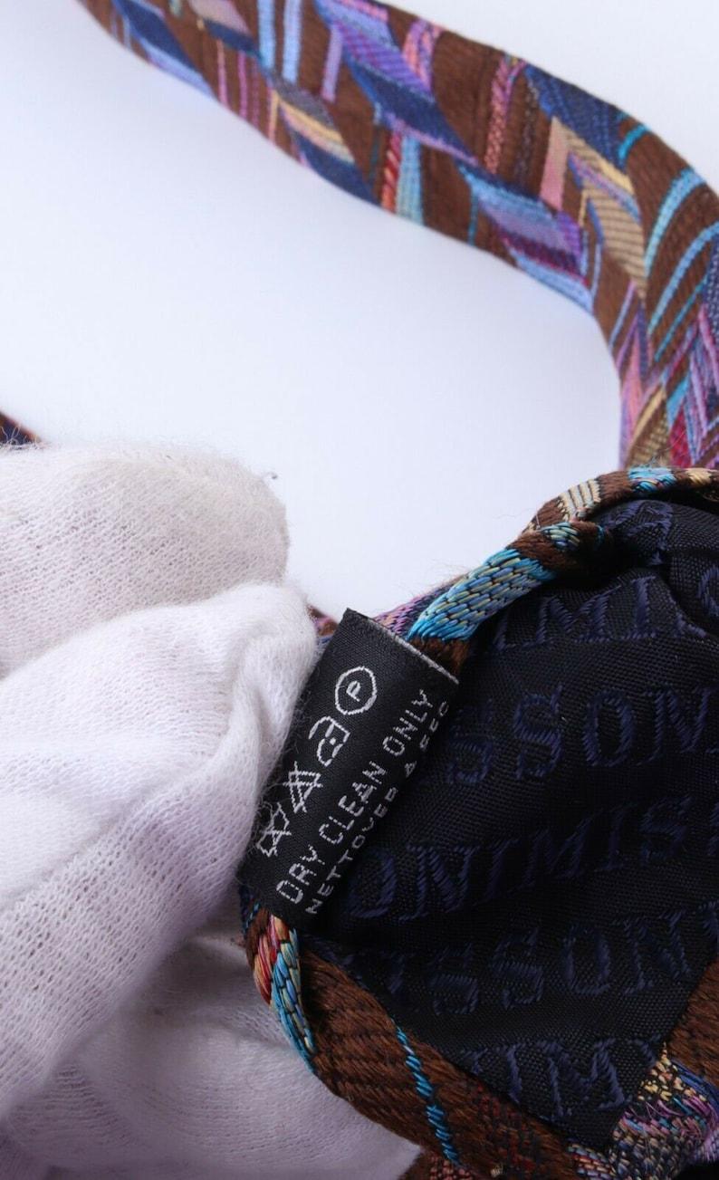 Men/'s MISSONI 100/% Silk Stripe Purple Tie Necktie