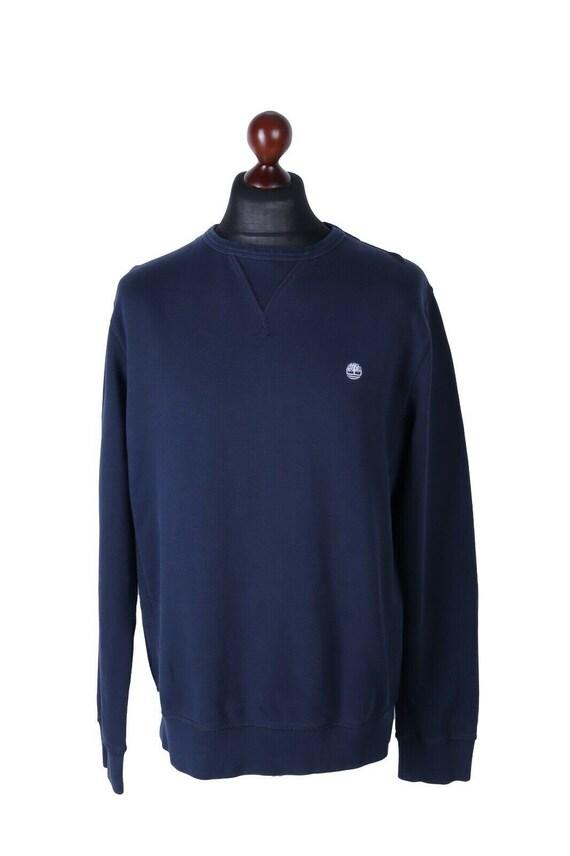 Men's TIMBERLAND Navy Cotton Sweatshirt C-Neck Pul