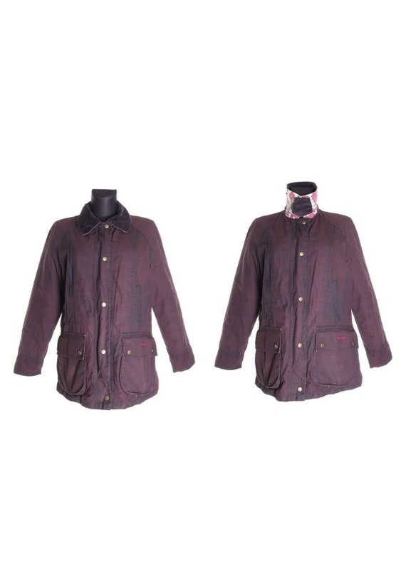 Women's BARBOUR Brown 100% Waxed Cotton LIBERTY BE