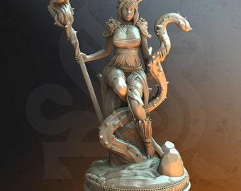 Rheda The Revered - Female Druid - Dungeons and Dragons, Pathfinder, Tabletop, 3d Printed, Miniature - DM Stash