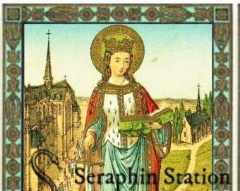 St. Dymphna Mini Holy Card, Wallet Sized