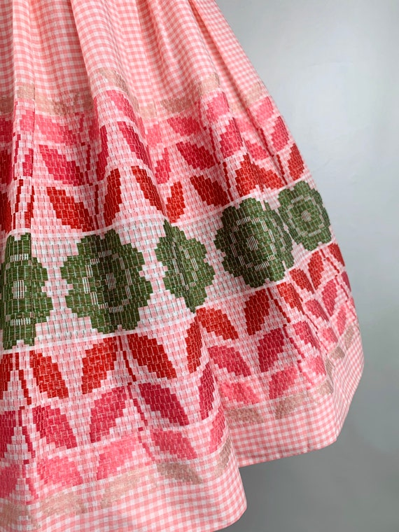 Pink Gingham 1950s / 60s Betty Barclay Cotton Sun… - image 5