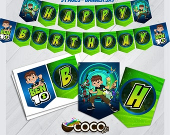 Ben 10 Party Decorations Pictures  from i.etsystatic.com