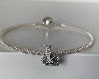 Maid of honor Charm huge sale crystal heart Fits European Bracelet charm only