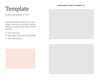 4x6 Template Etsy