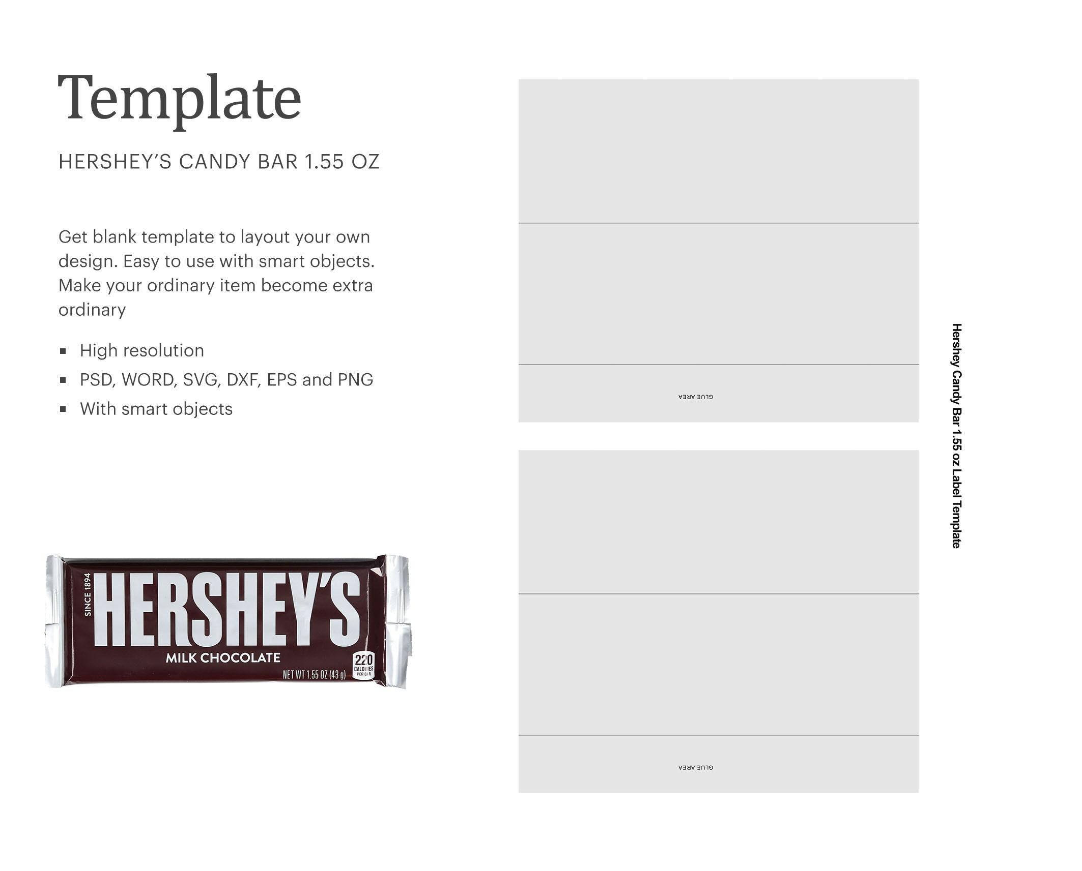 Chocolate Milk Bar 21.21 oz Blank Wrapper Template Party Favor  Etsy With Blank Candy Bar Wrapper Template