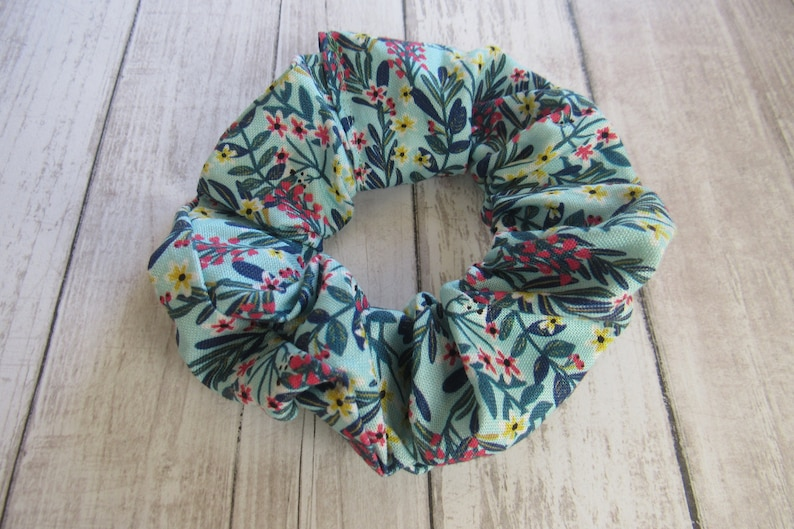Leaves Floral Scrunchie Homemade