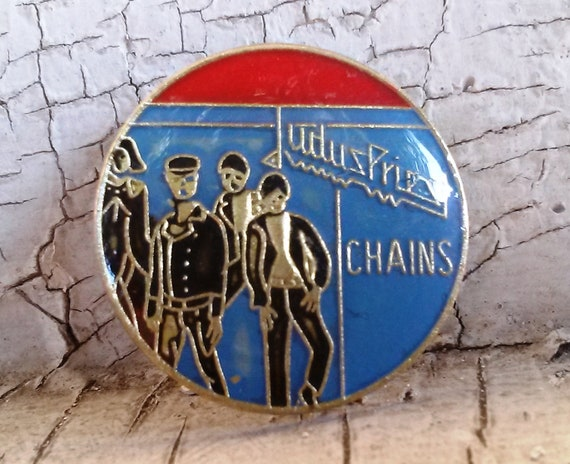 Vintage Rock Pins - Missing Persons - Judas Priest - Stray Cats - Original Lapel Pins
