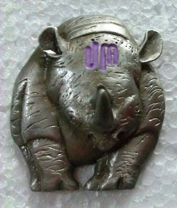 UM 3D Rhino - Casted Lapel Pin - Original Design - Rhinoceros