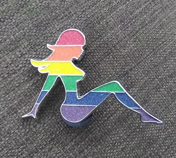 The Gay Glow Stripper Pin - Gay Stripper - Glow pin
